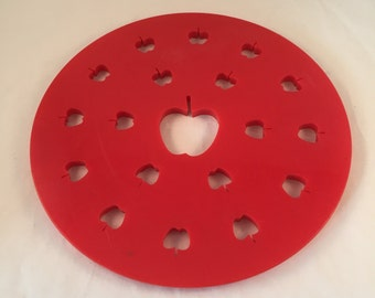 "Pie Top Cutter, Apples Imprints, Large 9-1/2"" Wide, Apple Pie Topper"