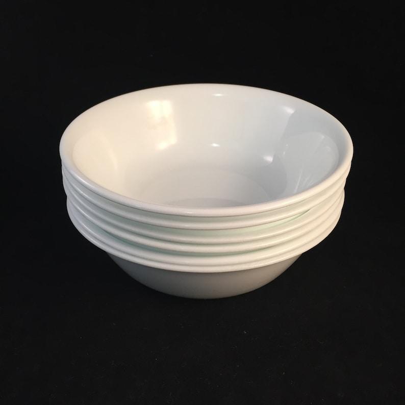 6 CerealSoup Bowls by Corelle Winter Frost White Retro White Corelle Bowls