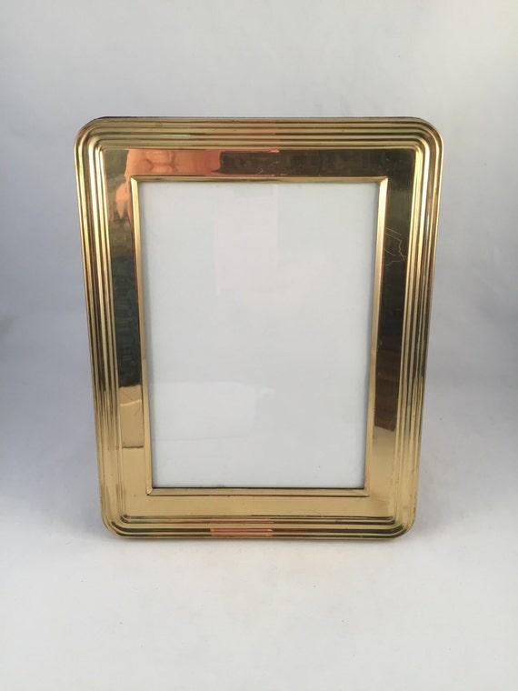 Brass Picture Frame Album Photo Album 28 2 Sided Flip Photo Etsy