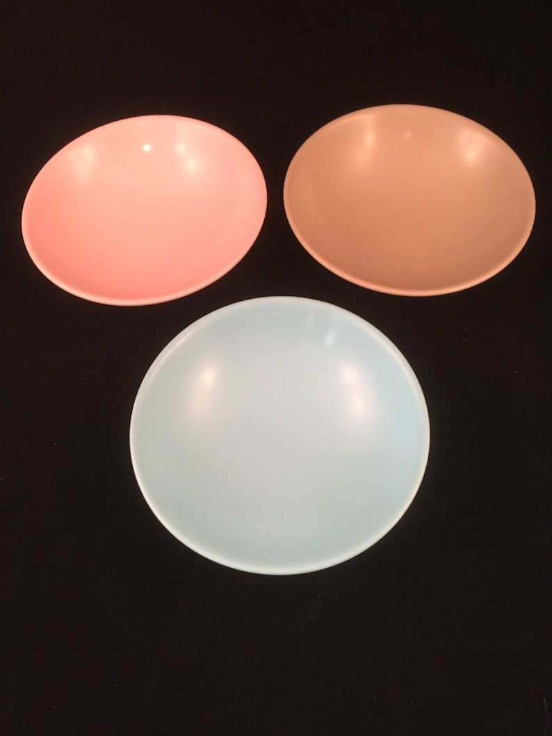 Set of 3 Melmac Lournay 5 Bowls Condiments Nuts Dessert Candy Pastel Colors