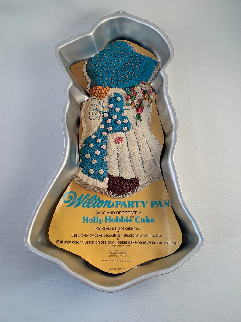 Doll Cake Pan Theme Party NewVintage 1975 Wilton Holly Hobbie Cake pan Vintage Wilton Cake Pan