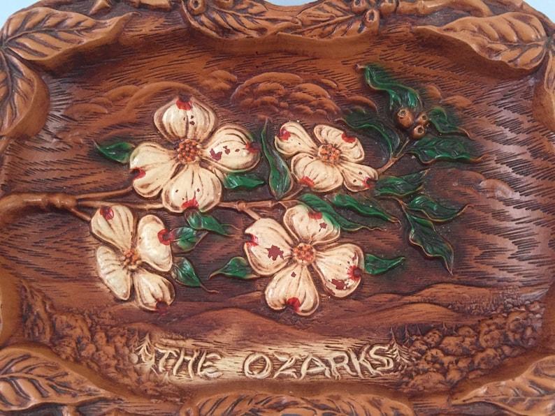 The Ozarks Faux Wood Souvenir Bowl 12 X 9