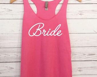 Bride Tank Top. Brides Entourage Tanks. Bridal Party Tank. Bridesmaid Shirts. Racerback Tank. Eco Maid of Honor Tank. Bride Shirt.