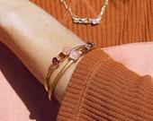 rose quartz bracelet | citrine bracelet | citrine jewelry | rose quartz jewelry | garnet bracelet | birthstone bracelet | crystal bracelet