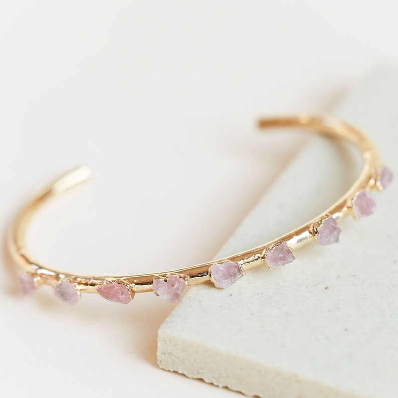 e0585bbcd277a9 Rose quartz bracelet rose quartz jewelry crystal jewelry   Etsy