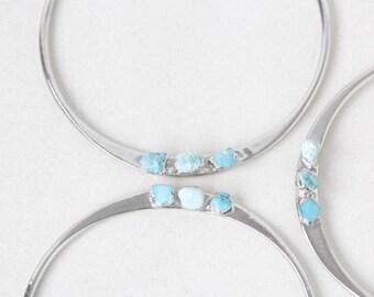 december birthstone cuff | december birthstone bangle | raw gemstone bangle | turquoise cuff | turquoise bangle | raw turquoise bracelet