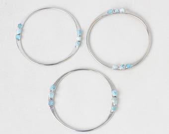 turquoise bangle | raw turquoise bracelet | december birthstone cuff | december birthstone bangle | raw gemstone bangle | turquoise cuff
