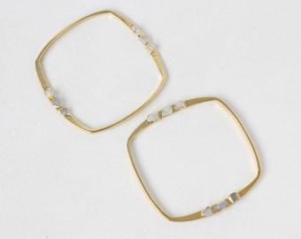 june birthstone bracelet | moonstone bangle | raw moonstone cuff bracelet | june birthstone cuff | raw gemstone bangle  | gemstone cuff