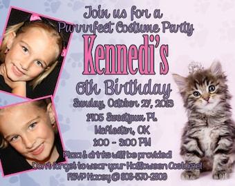 Kitty Cat Birthday Invitation