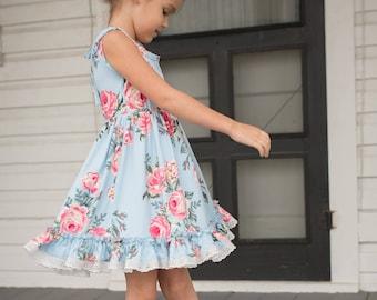 Cheeky Plum Elara Dress in Beaux Blue