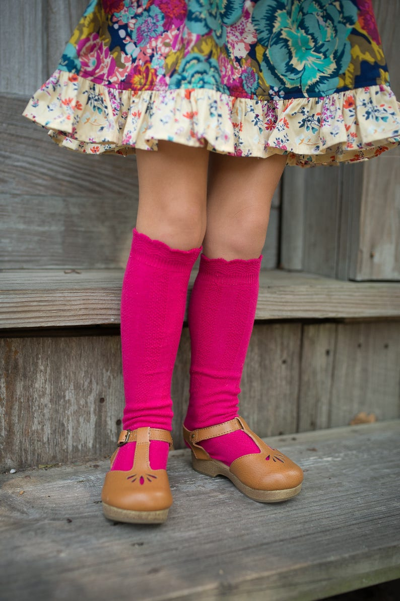 f373958e0 Cable Knee High Boot Socks Girls Kids Pink