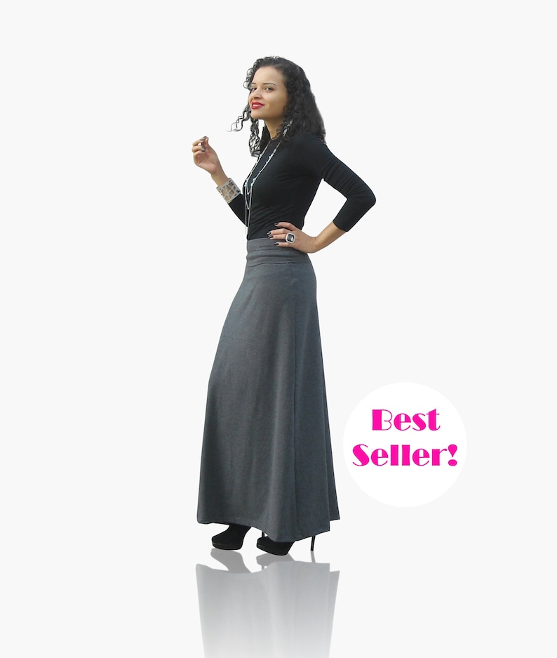 Womens Maxi Skirt - Plus Size Skirt - Petite Skirt - Tall Skirts - A Line  Maxi Skirt - Foldover Waistband - Flare Maxi Skirt - A-Line Skirt