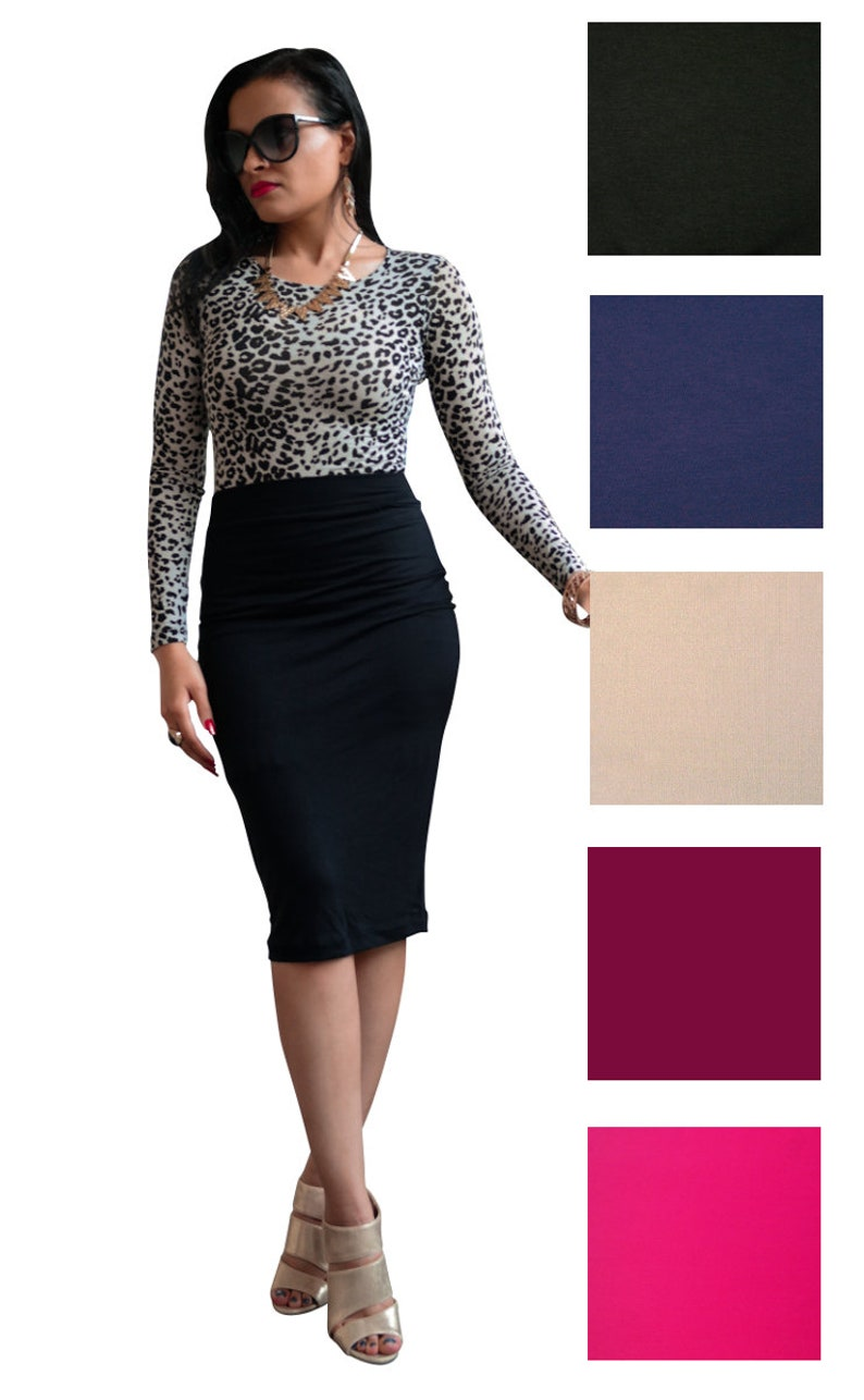 99402d73b91 High Waisted Midi Skirt Pencil Skirt Plus Size Pencil