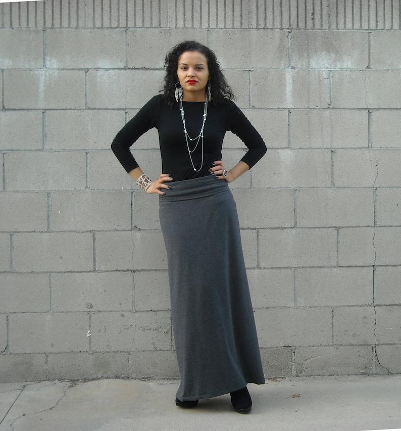 e7f762403708b Womens A Line Skirt Plus Size Skirt Maxi Skirt Foldover
