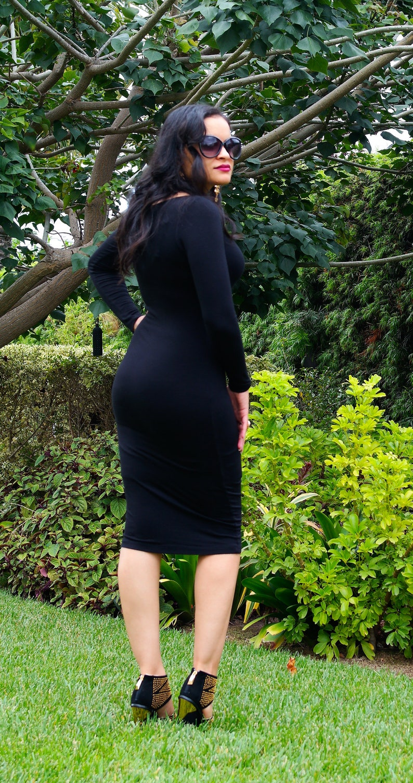 30c0194569f Élégante petite robe noire grande taille robe robe crayon