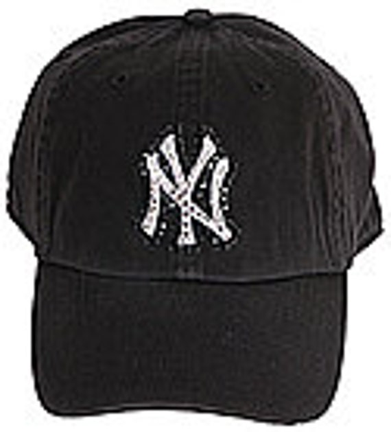 02c21080 Swarovski Rhinestone New York Yankees Baseball Cap in Black Twins  Enterprise One Size Fits All