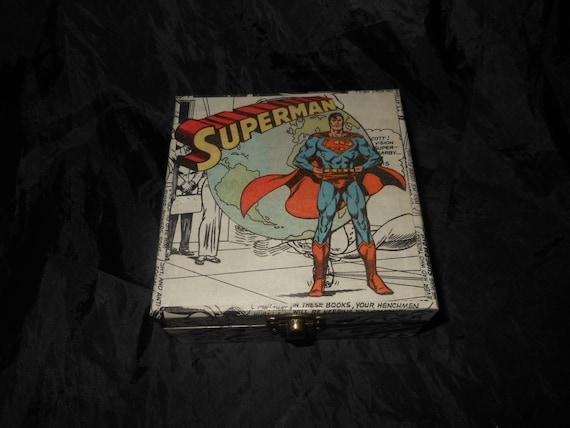 Superman Mano Decoradas Almacenamiento Caja De Regalo Unico Etsy