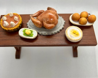 Miniature Thanksgiving Turkey Dinner with sides
