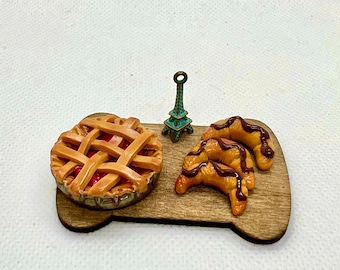 Baked Cherry Pie and Croissant Miniatures