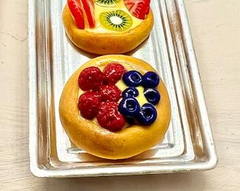 Sweet Miniature Fruit Dessert Pastries