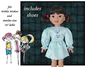 black boots side snaps for Madame Alexander 14 inch DOLL SHOES Premier white