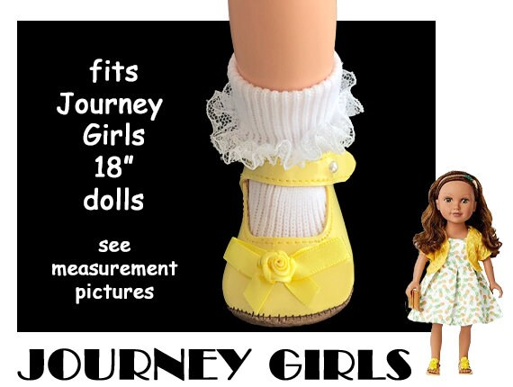 "18/"" Doll Boots for Journey Girls Dolls Black Shoes"