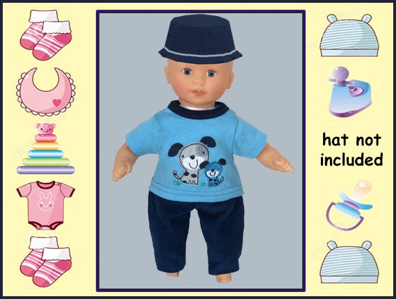 12 In Baby Doll Clothes Blue Dog Theme Shirt Pants Melissa And Doug Mine To Love 12 Corolle Mon Premier Corolle 12 In Tido And Calin
