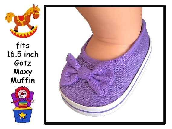 b519058672fc1 Vintage large purple doll shoes, 16 - 16.5 in doll shoes, Gotz Maxy Muffin  Doll, Reborn baby doll shoes