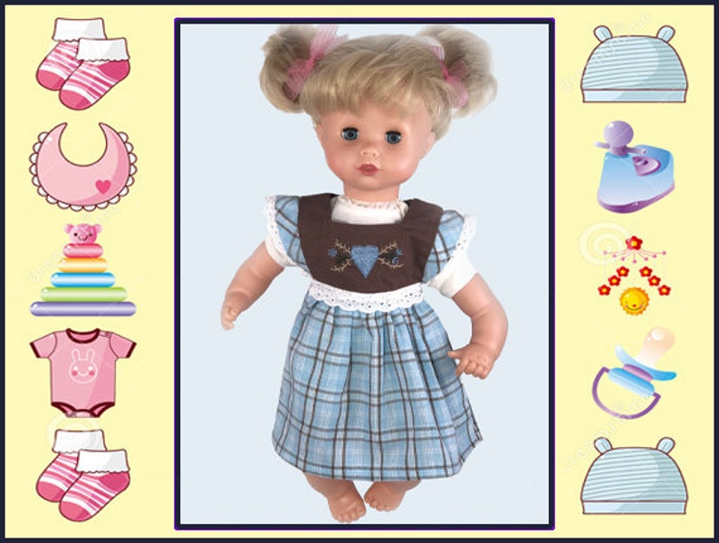 12 In Baby Doll Clothes Blue Doll Dress Baby Alive 12 Corolle 12 In Baby Doll Melissa Doug Dolls Gotz 13 Muffin Mine To Love 12