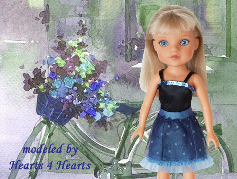 d597f386497a8 Corolle les Cheries dress, Hearts 4 Hearts outfit, 2 piece doll dress,  Paola Reina Las Amigas, 14 inch doll clothes, Hearts for Hearts doll