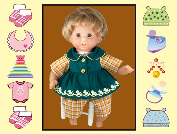 12 Inch Baby Doll Green Outfit Melissa Doug Corolle 12 In Baby Doll Mine To Love 12 In Baby Doll Shirt And Pants Baby Doll Clothes