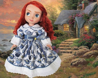 Disney Animator doll clothes /  Disney princess dress / Disney 15 in toddler doll / Disney Store doll / Disney Park doll