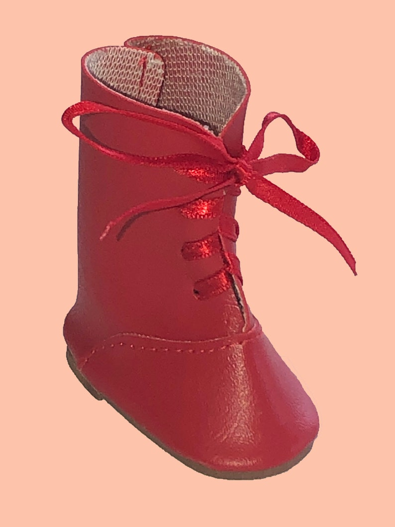 e70df7a785040 Vintage Red Doll Boots for Hearts 4 Hearts Girls and Corolle les Cheries,  red lace doll boots 14 inch dolls