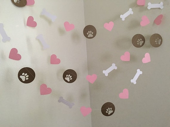Puppy Dog Themed Paper Garland Birthday Decorations