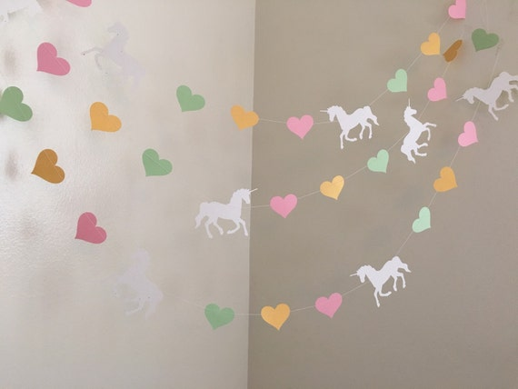 Unicorn Birthday Decorations Party Garland