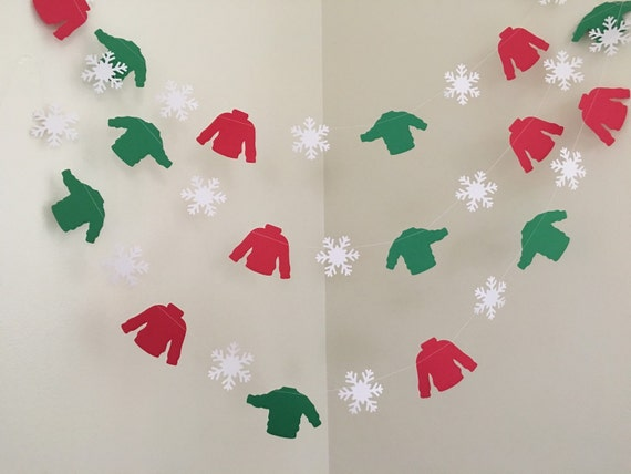 Ugly Sweater Party Garland Ugly Sweater Garland Christmas Etsy