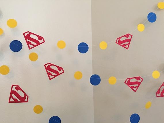 Superman Garland Birthday Party Decorations Superhero Decor 2nd 3rd 4th 5th