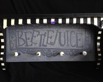 Beetlejuice Key Holder Tim Burton Wall Shelf