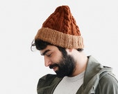 Custom Mens Beanie, Color Block Beanie, Mens Knit Hat, Customizable Hat, Two Tone Beanie, Mens Winter Hat
