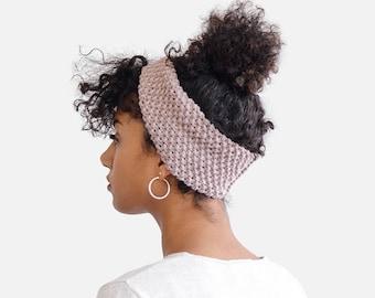 READY TO SHIP / Hand Knit Headband, Custom Ear Warmer, Womens Turban, Wool Headband, Handknitted Turband, Warm Winter Turban