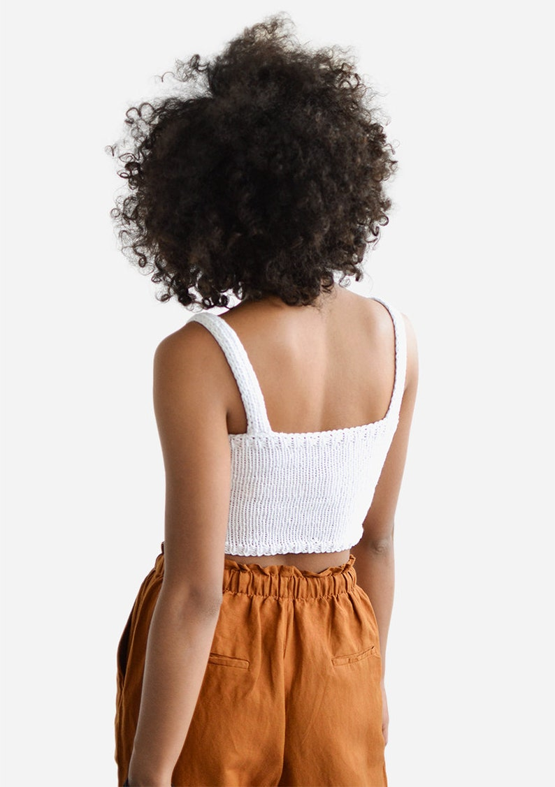 Fitted Cotton Bralette in Light Wheat Square Neckline,Sports Knit Bra Hand Knit Cropped Yoga Top Square Neck Crop Top Minimal Knit Top