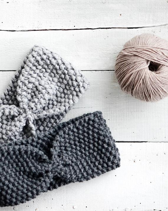 Hand Knit Headband Custom Ear Warmer Womens Turban Wool | Etsy