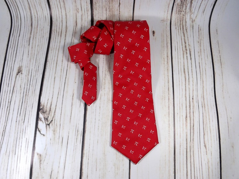 pi day tie pi accessory teacher gift mathematical tie cherry pi apple pi 3.14 math tie Pi tie pi necktie