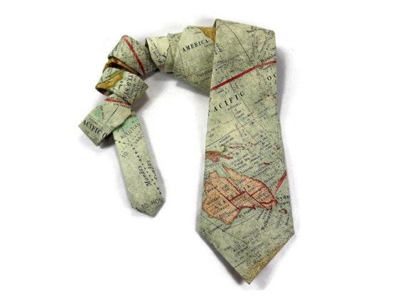 World Map Tie.World Map Tie Cartographer Tie Map Tie Travel Tie World Etsy