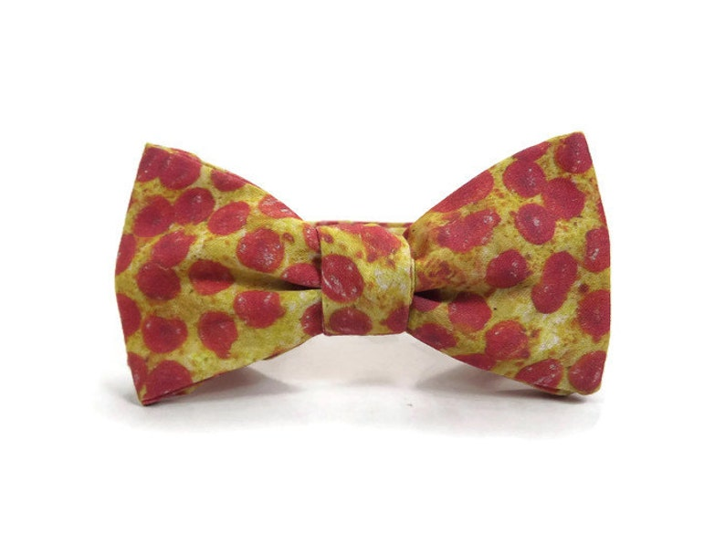 Pizza bowtie Pepperoni pizza bowtie pizzeria foodie bow image 0