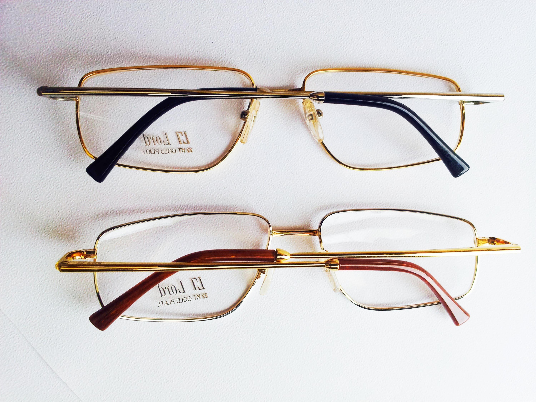 Vintage Lord 7073  Gafas chapadas en oro de 22kt / Old Stock