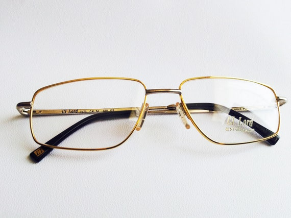 e9ada14c53c Vintage Lord 7073 22kt Gold Plated Eyeglasses  Old Stock