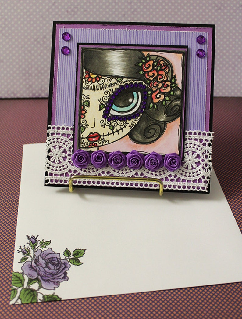 Day of the Dead  Handmade Greeting Card image 0