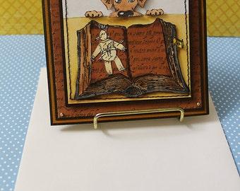Voodoo Dog, Handmade Card, Voodoo Handmade Card, Dog Card, Halloween Handmade Card, Handmade Greeting Cards
