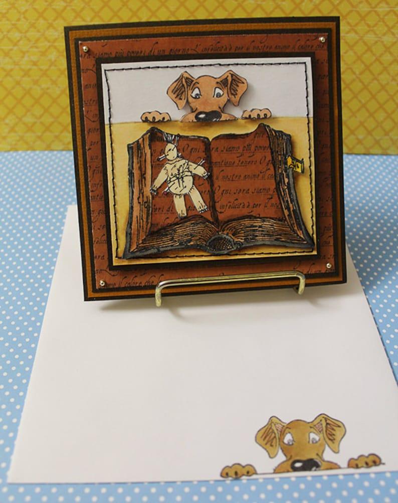 Voodoo Dog Handmade Card Voodoo Handmade Card Dog Card image 0